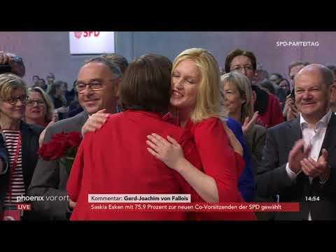 Neues Parteivorsitzenden-Duo Esken und Walter-Borjans gewählt auf dem SPDbpt19 am 06.12.19