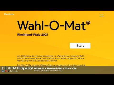 DIE WAHL in Rheinland-Pfalz + Wahl-O-Mat | UPDATESpezial vom 25.02.21