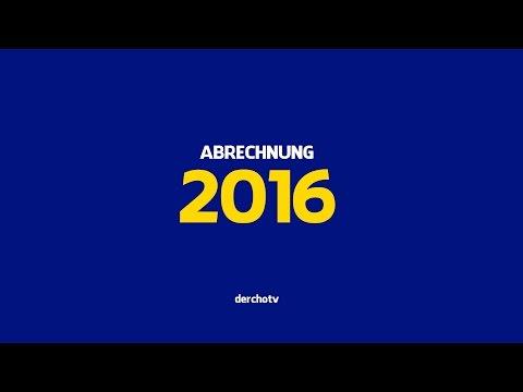 ABRECHNUNG 2016 – Ein Kommentar zum Jahr 2016