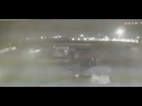 New Security Video Shows Moments Two Iranian Missiles Hit Ukrainian Airlines Flight 752 in Iran