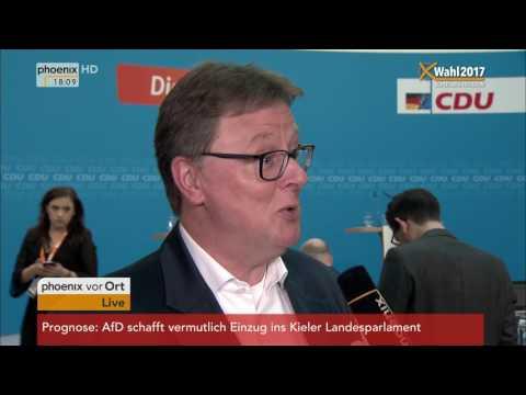 Landtagswahl Schleswig-Holstein: Michael Grosse-Brömer im Interview am 07.05.2017