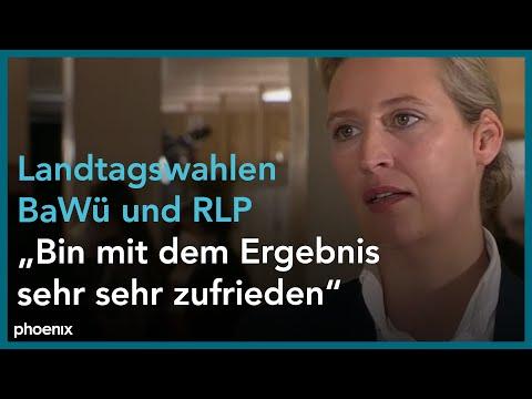 Alice Weidel (AfD) im Interview am Abend der Landtagswahlen am 14.03.21