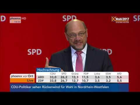 Landtagswahl Schleswig-Holstein: Martin Schulz gibt Statement am 07.05.2017