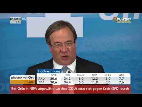 NRW wählt: Rede von Armin Laschet nach Wahlsieg am 14.05.2017