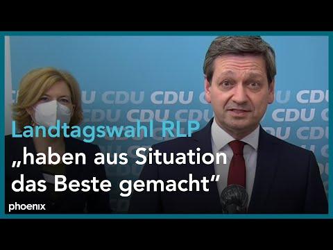 Statement Christian Baldauf (CDU) am Abend der Landtagswahl in Rheinland-Pfalz am 14.03.21