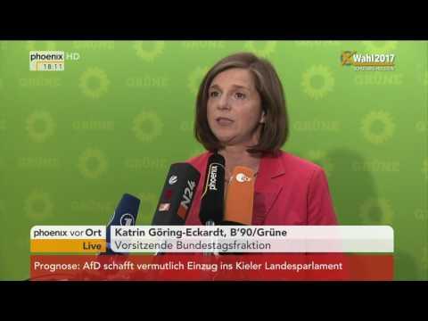 Landtagswahl Schleswig-Holstein: Katrin Göring-Eckardt gibt Statement am 07.05.2017