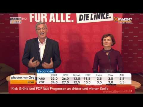 Landtagswahl Schleswig-Holstein: Bernd Riexinger und Katja Kipping geben Statements am 07.05.2017