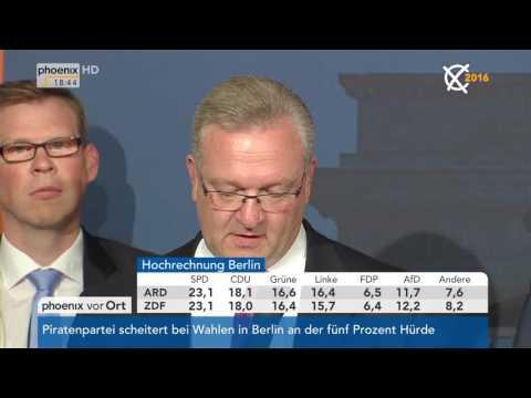 Abgeordnetenhauswahl in Berlin: Frank Henkel zu den Wahlergebnissen der CDU am 18.09.2016
